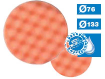 3M Polierschaum genoppt Standard orange Ø76mm