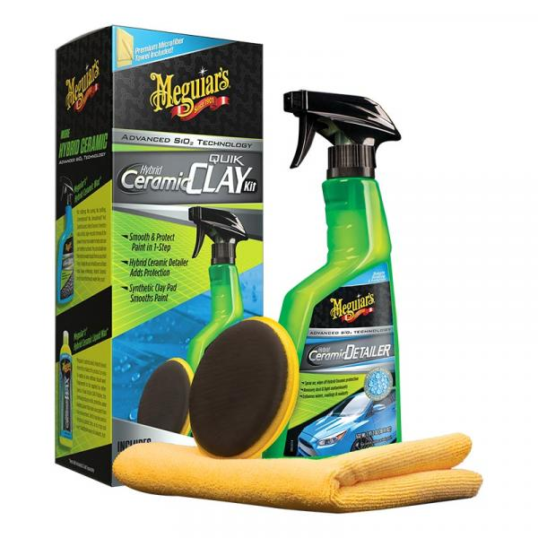 Meguiars Hybrid Ceramic Quik Clay Kit