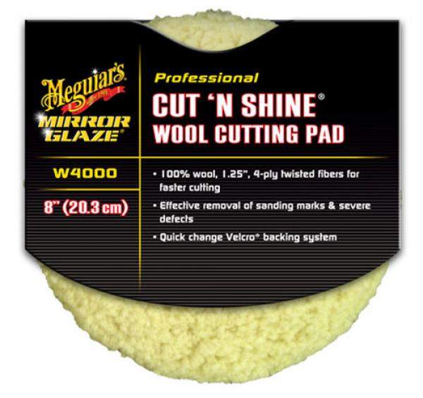 Meguiars Cut N Shine Wool Pad 200mm